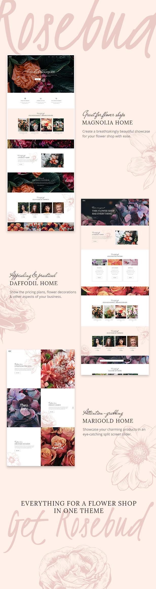 WordPress theme Rosebud - A Flower Shop and Florist WordPress Theme (Retail)